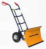 Snow Shield and Hand Truck
